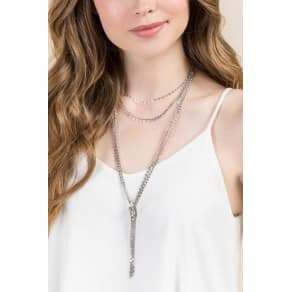 Apollo Layered Chain Necklace in Silver - Silver
