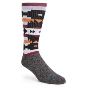 c733ddd73a6f Men's Stance Lyonz Geometric Socks, Size Large - Black