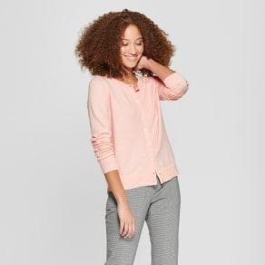 Women's Crewneck Cardigan - A New Day Light Pink S