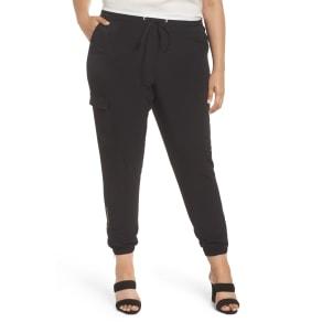 Plus Size Women's Sejour Zip Ankle Jogger Pants, Size 14W - Black