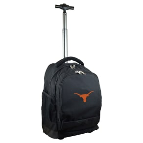 NCAA Texas Longhorns Black Premium Wheeled Backpack