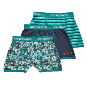 Joe Browns - Green 'Joe's' Pack Of 3 Mens Boxers