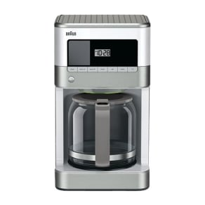 Braun - BrewSense 12-Cup Coffee Maker - Stainless Steel/White