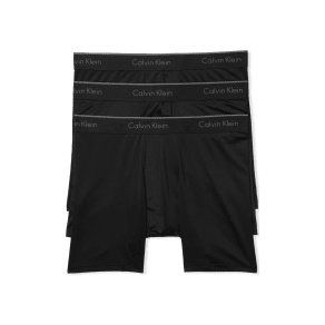 Men's Calvin Klein 3-Pack Micro Stretch Boxer Briefs, Size Large - Black