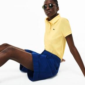 Women´s Lacoste Classic Fit Soft Cotton Petit Piqué Polo Shirt Size 22 Yellow