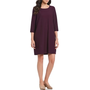 Eileen Fisher Scoop Neck 3/4 Sleeve Tunic Dress