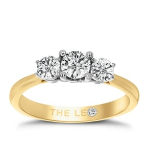 Leo Diamond 18ct Yellow Gold 3 Stone 3/4ct II1 Diamond Ring