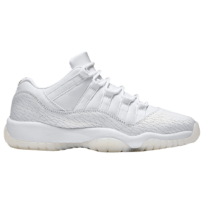 Girls Jordan Retro 11 Low HC - Grade School - White/White/Pure Platinum