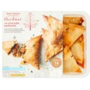 Waitrose Christmas 10 Chicken Samosas