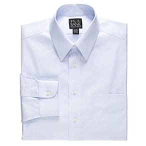 Traveler Collection Traditional Fit Point Collar Dress Shirt - Big & Tall, by JoS. A. Bank