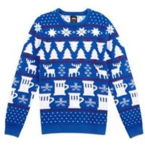 Mens Blue Light Up Christmas Jumper, Blue