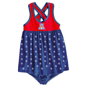 NCAA Arizona Wildcats Girls' Toddler Crossback Dress - 2T, Multicolored
