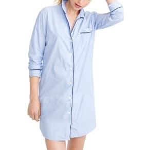 Women's J.crew End On End Sleep Shirt, Size Small - Blue