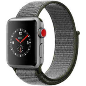 Apple Watch Series 3 42mm (GPS+Cellular) Space Grey Aluminium Case with Dark Olive Sport Band (Refurbished Grade A) at £30.00 on Smartwatch (24 Month(s) contract) with UNLIMITEDMB of 4G data. £20.00 a month.