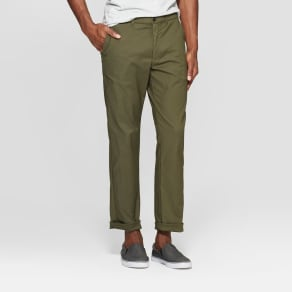 Men's Chino Pants - Goodfellow & Co Late Night Green 34x30