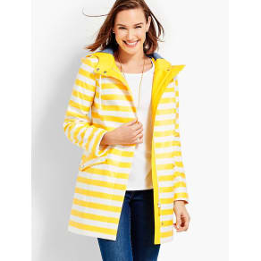 Talbots Women's Classic Stripe Raincoat