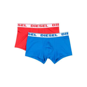 Mens Diesel 2 Pack Blue and Red Trunks*, Red