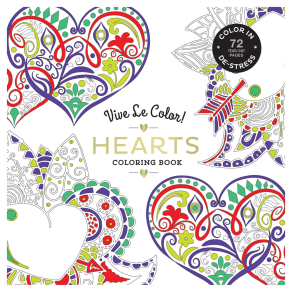 Vive Le Color! Hearts Colouring Book