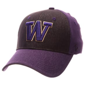 Zephyr Washington Huskies College Challenger Stretch Fit Hat, Black