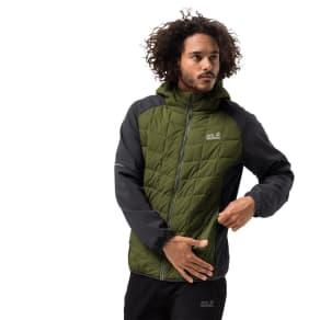 Jack Wolfskin Hybrid Jacket Men Grassland Hybrid Hood Men S Green