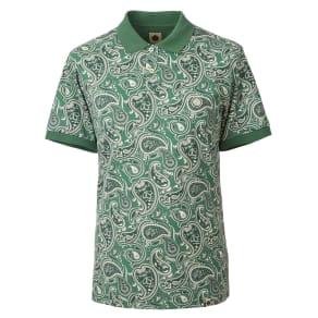 Men's Pretty Green Paisley Print Polo Shirt, Green