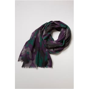True Religion Purple Camo Wool Scarf - Boysenberry