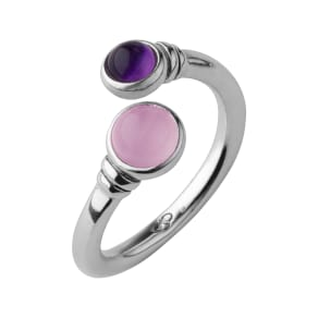 Links of London Sweetie Xs Candy Gems Rose Quartz & Amethyst Ring