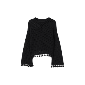 Recycled Cotton Openwork Sweater
