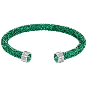Swarovski Swarovski Crystaldust Cuff, Green, Stainless Steel Green Stainless Steel