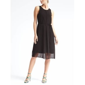 Knit Overlay Dress Women