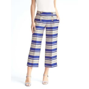 Blake Fit Wide Leg Cropped Sailor Pant Women