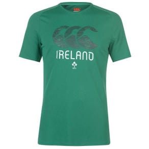 Canterbury Ireland Rugby Poly T Shirt Mens