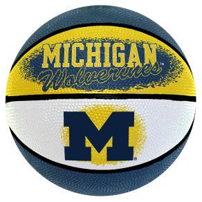 Wilson University of Michigan Wolverines Ncaa 7-Inch Mini Basketball