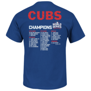 Chicago Cubs Majestic Mlb World Series Roster - Mens - Royal Blue