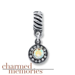 Charmed Memories Iridescent Crystal Charm Sterling Silver