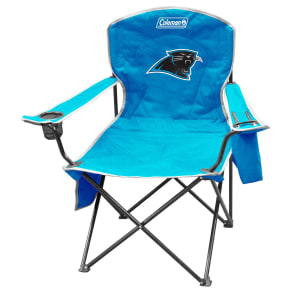 Outdoor Coleman Nfl Carolina Panthers Folding Cooler Chair With Carrying Case