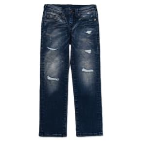 Boy's True Religion Brand Jeans Geno Single End Straight Leg Jeans, Size 4 - Blue