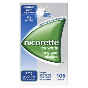 Nicorette Icy White Gum 4mg - 105 Pieces