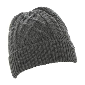 Ombre Cable Knit Turn Up Beanie Hat