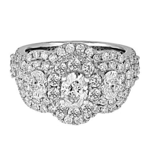 3 Ct. Tw. Diamond Three-Stone Ring in 14k White Gold