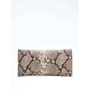 Snake Effect Leather Exotic Clutch Women
