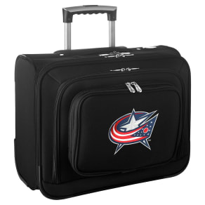 Nhl Columbus Blue Jackets Mojo Wheeled Laptop Overnight Bag