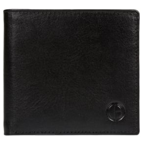Pure Luxuries London Black 'Ashby' Vegetable-Tanned Leather Wallet