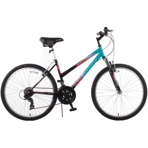Titan Trail 21-Speed Suspension Women's Mountain Bike, Black