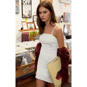 Pacsun Womens Corduroy Mini Shift Dress - White