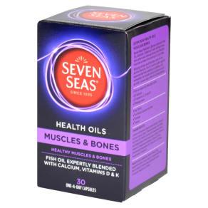 Seven Seas Health Oil Muscle & Bones 30 Capsules - 30Capsules