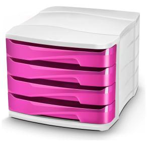 Cep Pink Desktop Storage - Set of 4