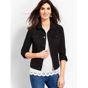 Talbots: Black Denim Jacket