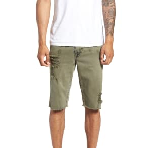 Men's True Religion Brand Jeans Ricky Relaxed Fit Shorts, Size 32 - Green