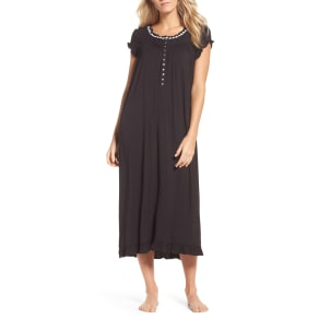 Women's Eileen West Stretch Modal Nightgown, Size X-Small - Black
